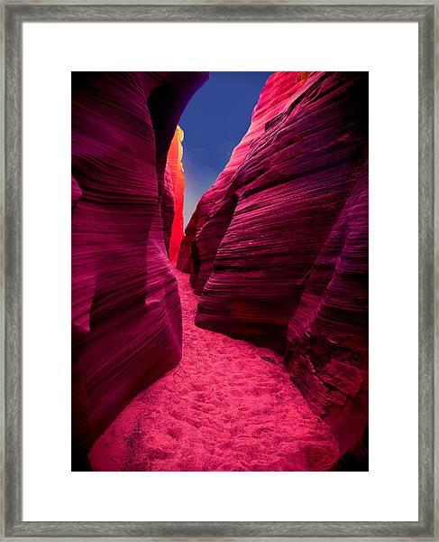 Desert Maze Framed Print