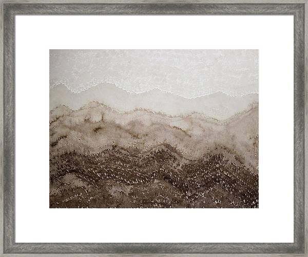 Desert Mountain Mist Original Painting Framed Print