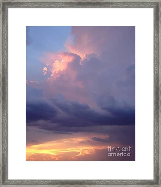 Desert Rainstorm 6 Framed Print