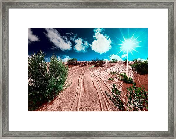 Desert Rays Framed Print