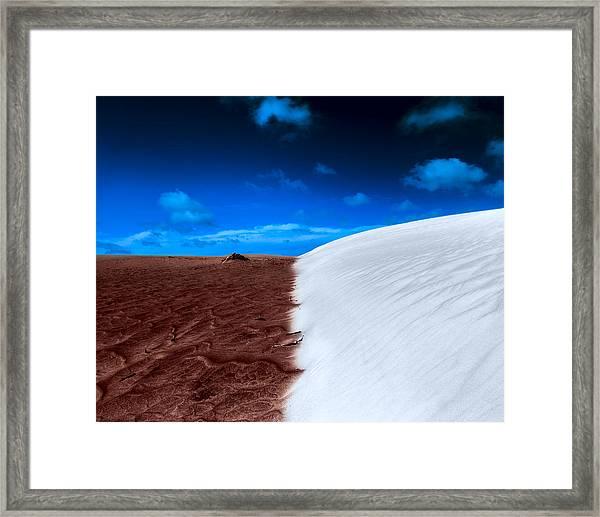 Desert Sand And Sky Framed Print