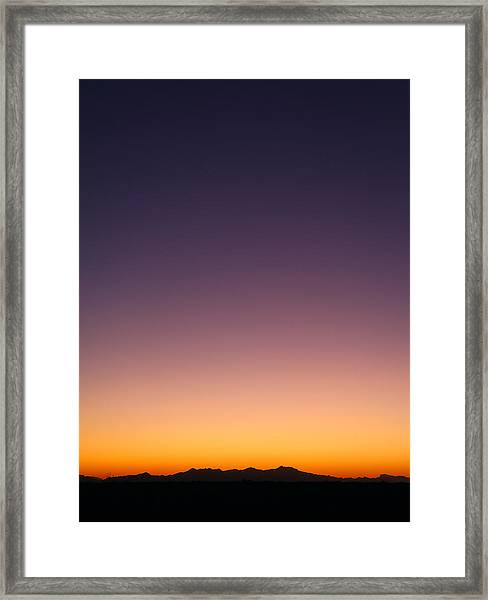 Desert Twilight Framed Print