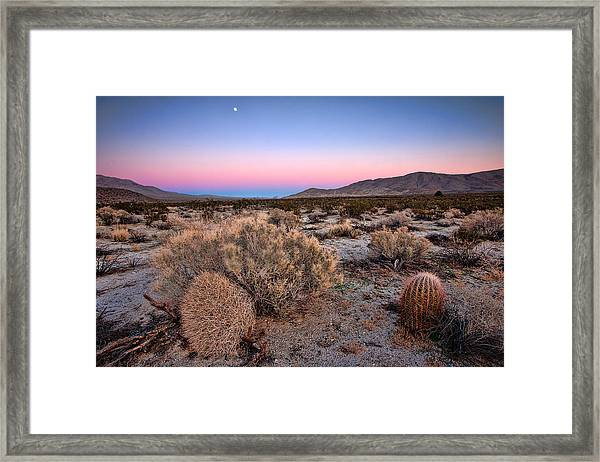 Desert Twilight Framed Print