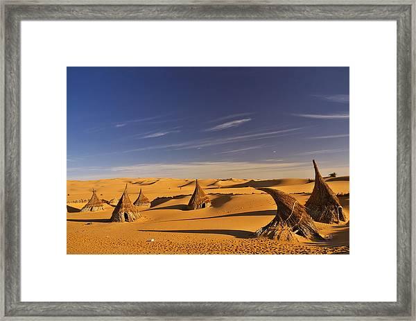 Desert Village Framed Print