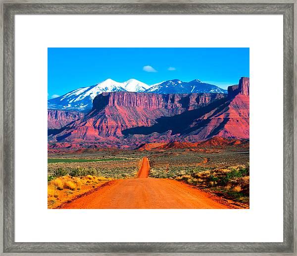 Deserted Dirt Road Framed Print