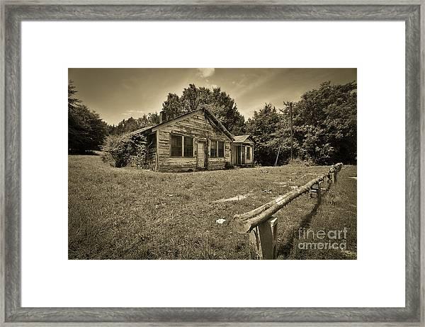 Deserted House Framed Print by Mina Isaac