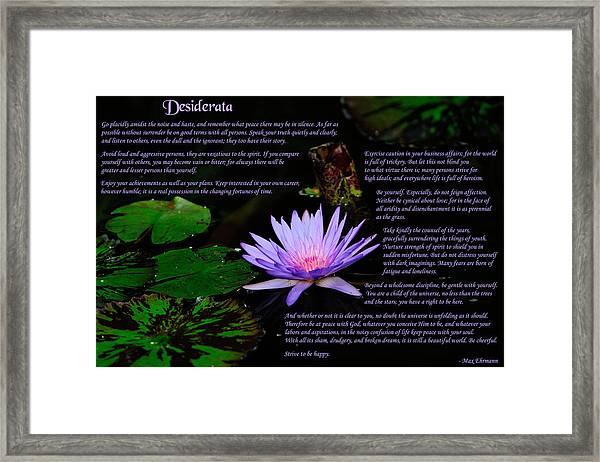 Desiderata 2 Framed Print