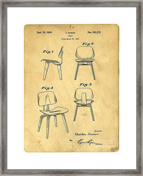 Designs For A Eames Chair Framed Print