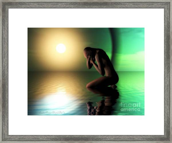 Despair Framed Print by Sandra Bauser Digital Art