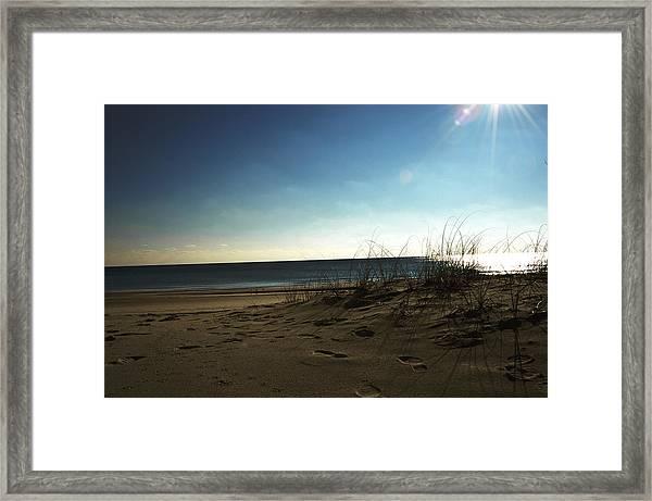 Destin Beach Sun Glare Framed Print