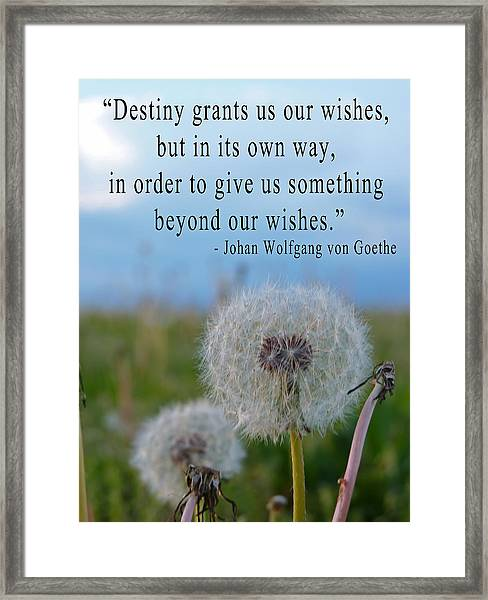 Destiny Wish Makers Framed Print