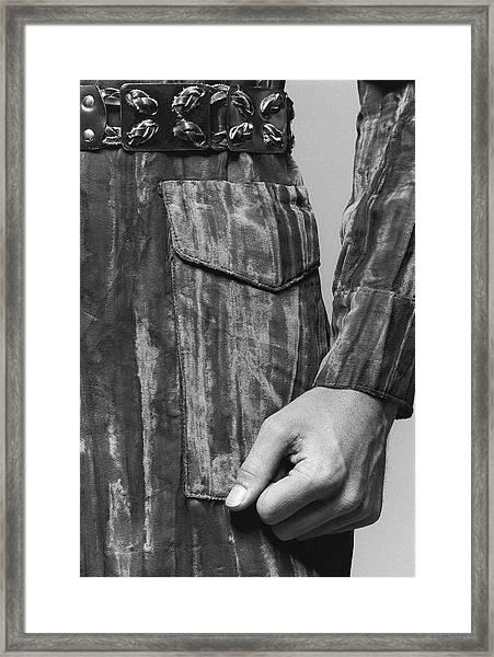 Detail Of A Jacket Pocket Framed Print