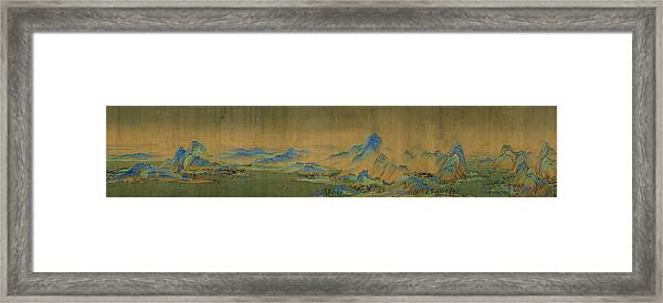 Detail Of A Thousand Li Of River Framed Print