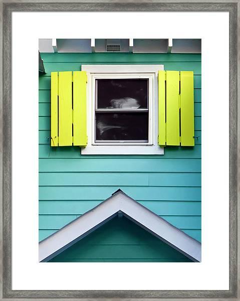 Detail Of Beach Cottage Framed Print