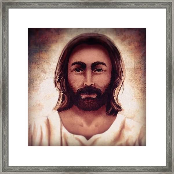 Portrait Of Jesus Framed Print