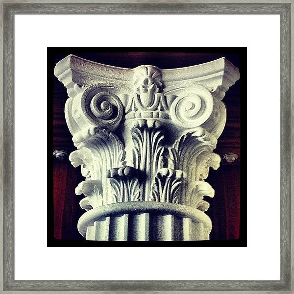 #details Of A Decorational #pillar Framed Print