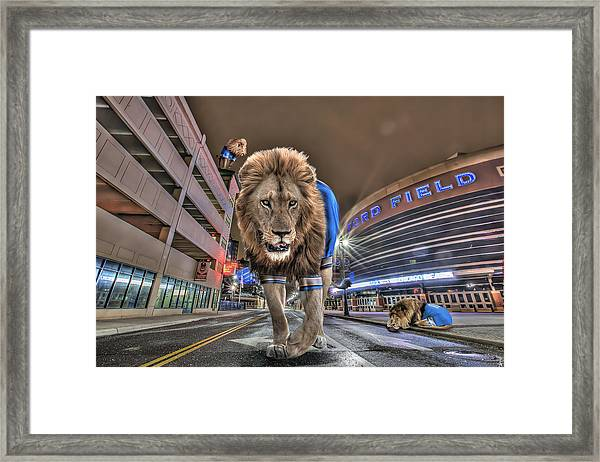 Detroit Lions At Ford Field Framed Print