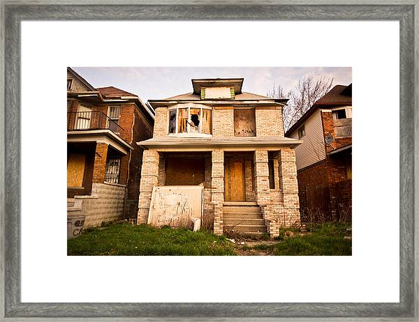 Framed Print featuring the photograph Detroit Neighborhood by Priya Ghose