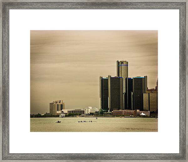 Detroit River Framed Print by Winnie Chrzanowski