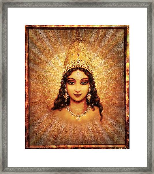 Devi Darshan Framed Print by Ananda Vdovic
