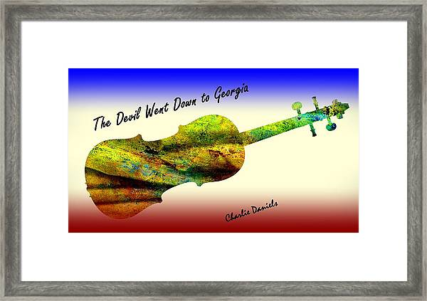 Devil Went Down To Georgia Daniels Fiddle  Framed Print