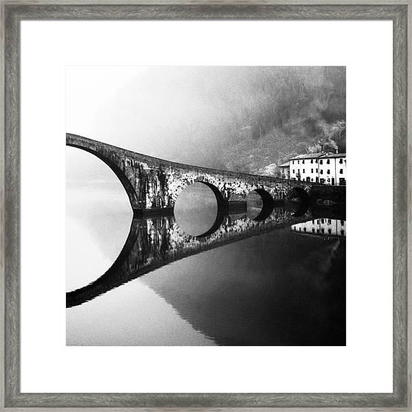 Devil's Bridge Framed Print by Franco Maffei