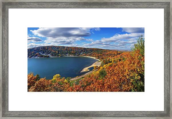 Devil's Lake In Autumn Framed Print