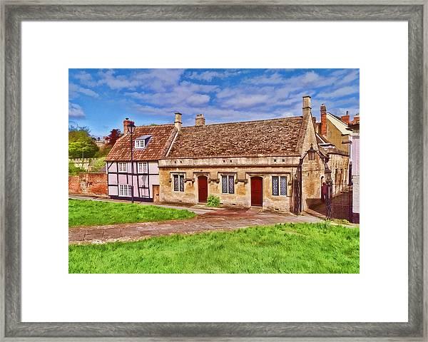 Devizes Cottages Framed Print