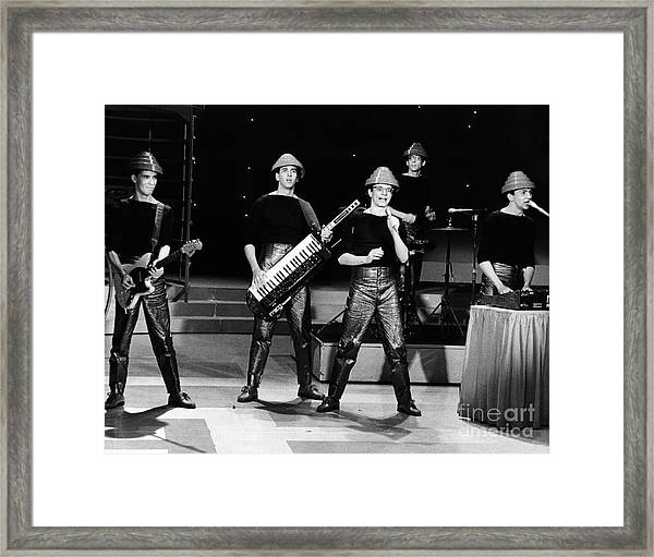 Devo 1980 Framed Print by Chris Walter