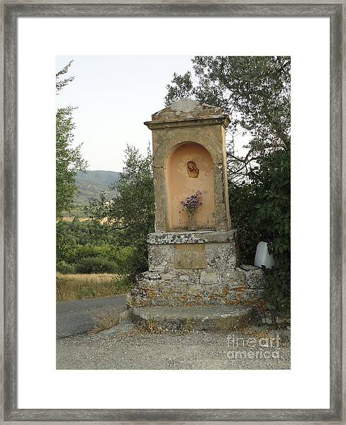 Devotion In Loppiano Framed Print