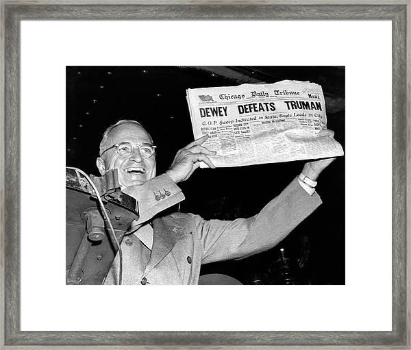 Dewey Defeats Truman Newspaper Framed Print