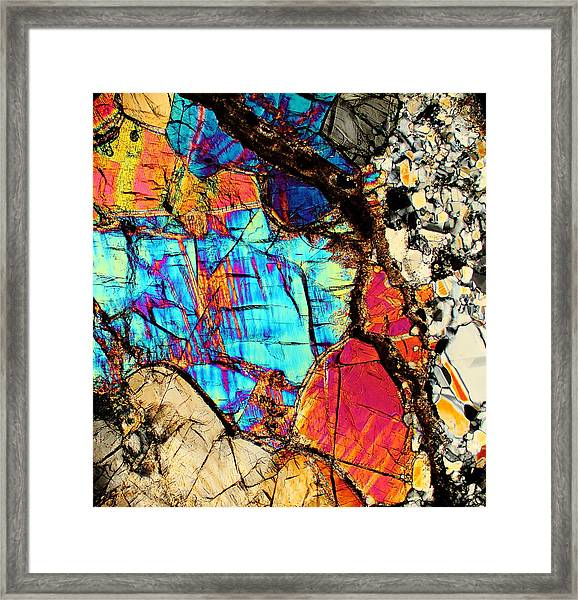 A Splash Of Blue Framed Print