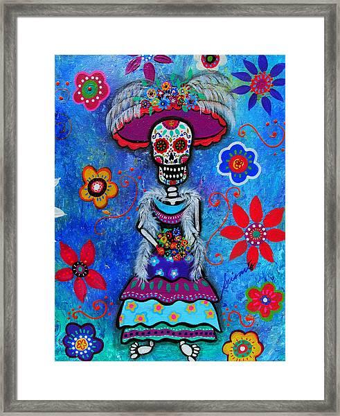 Dia De Los Muertos Catrina Framed Print