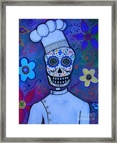 Dia De Los Muertos Cocinero Framed Print