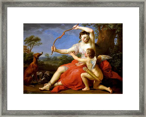 Diana And Cupid Framed Print