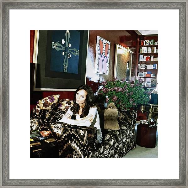 Diane Von Furstenberg At Home Framed Print by Horst P. Horst