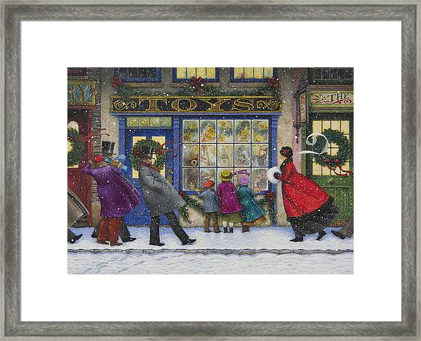 The Toy Shop Framed Print