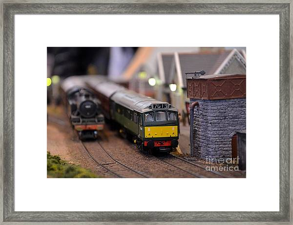 Diesel Electric Model Train Railway Engine Framed Print