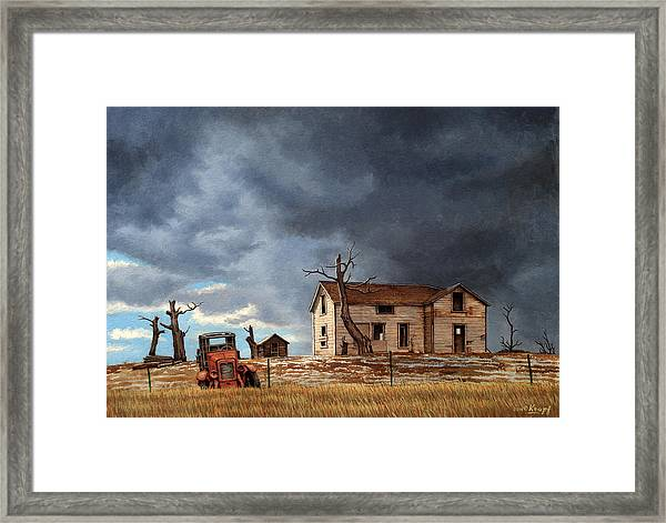 Different Day At The Homestead Framed Print