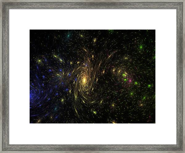 Different Starry Night Framed Print