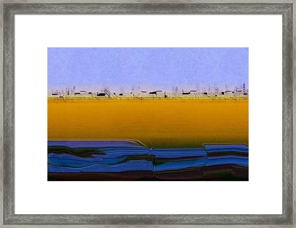 Digital City Landscape - 2 Framed Print