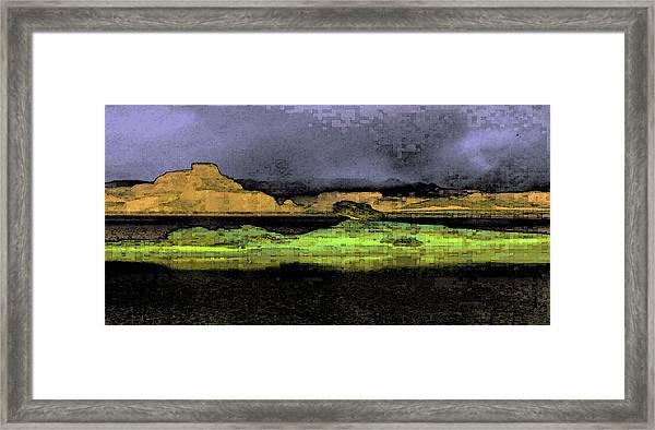 Digital Powell Framed Print
