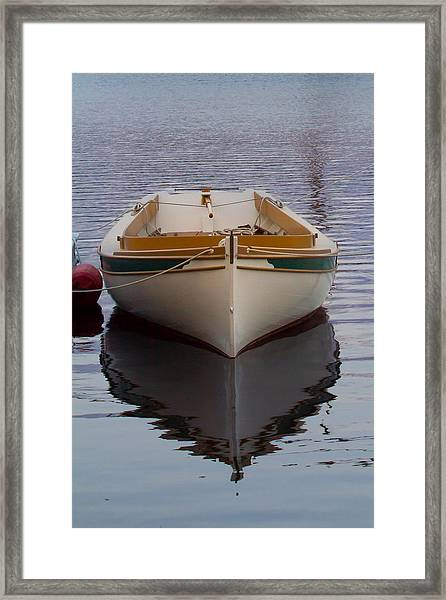 Dinghy Reflection  Framed Print