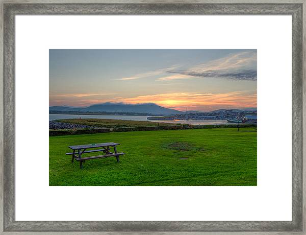 Dingle Harbor Sunset Framed Print
