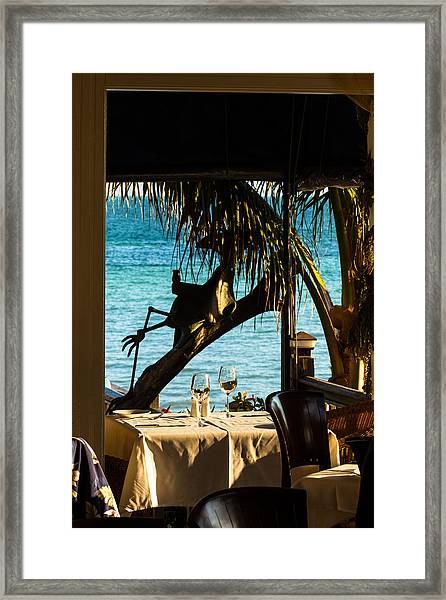 Dining For Two At Louie's Backyard Framed Print