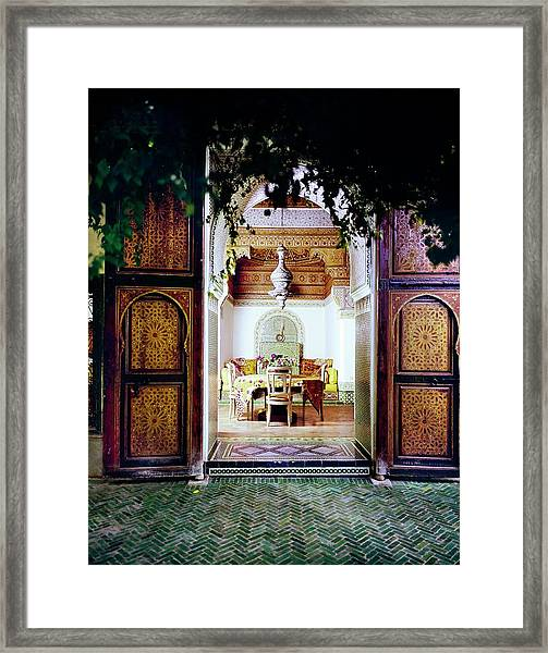 Dining Room In The Getty Estate Framed Print