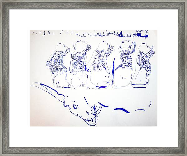 Dinka Wise Virgins -south Sudan Framed Print