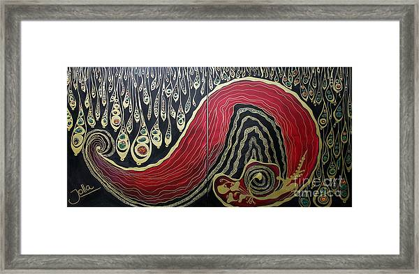 Dipped In Gold Diptich Framed Print