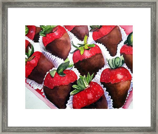 Dipped Strawberries Framed Print