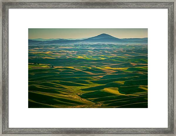 Dips And Bumps Framed Print